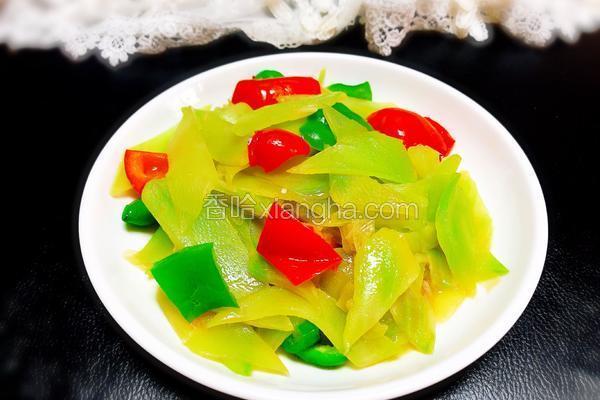 双椒炒笋片