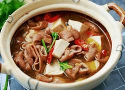 砂锅大肠炖豆腐