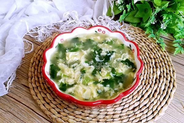 虾皮菠菜鸡蛋汤