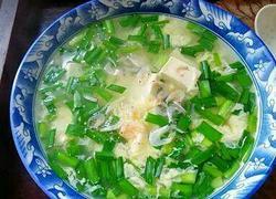 虾皮蛋花韭菜汤