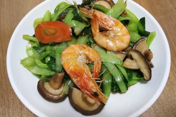 鲜虾香菇油菜