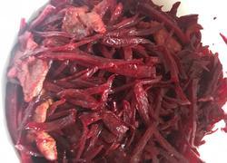 肉片炒紫菜头