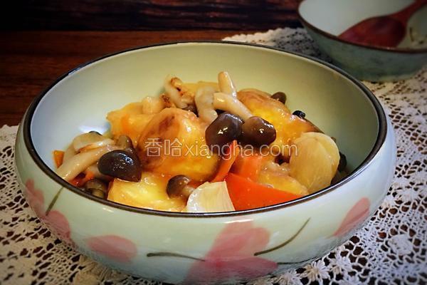 蟹味菇煨日式豆腐
