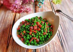 豌豆炒腊肠