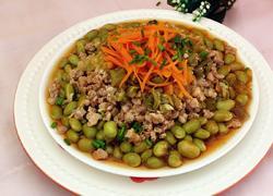 #蒸菜#肉末蒸毛豆