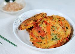 葱香虾皮胡萝卜煎饼