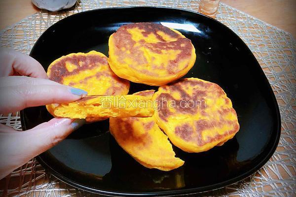 南瓜小米发面饼