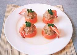 胡萝卜酿鲜虾肉丸
