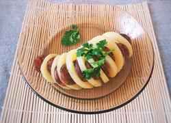 腊肠蒸风琴土豆