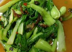 豆豉鲮鱼炒青菜