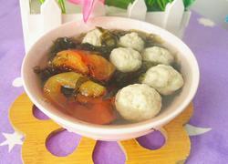 紫菜番茄圆子汤