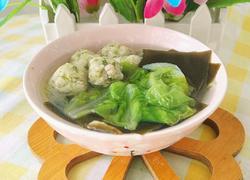 白菜海带圆子汤