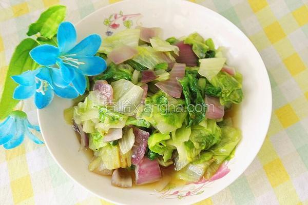 洋葱炒生菜