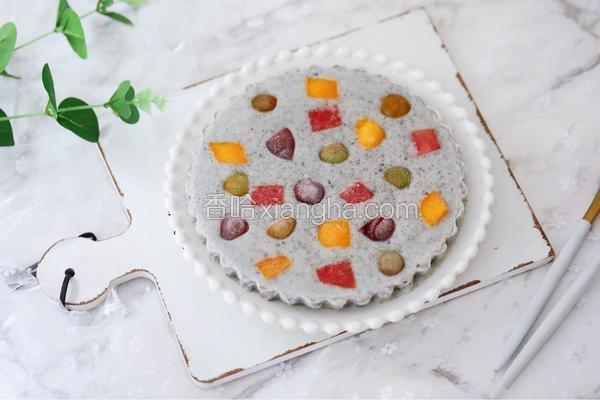 芝麻酸奶水果冻