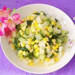 土豆黄瓜炒玉米的做法[图]