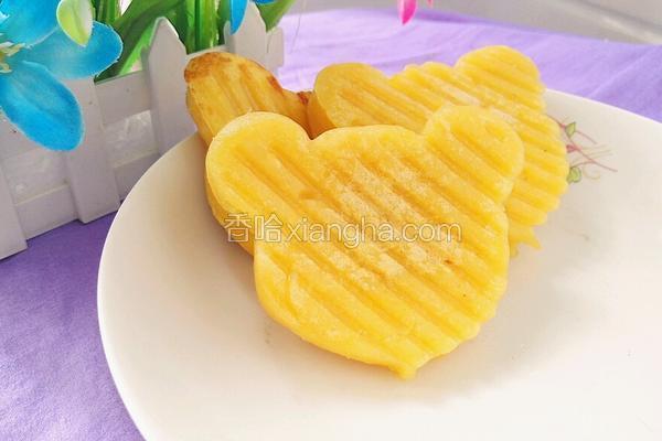 香橙牛奶煎饼(小熊头形)