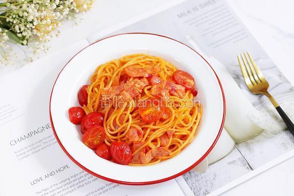培根番茄意面