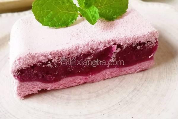 软糯香甜的紫薯松糕
