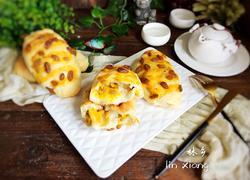 芒果酱葡萄干面包