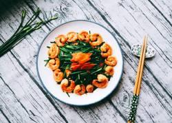 虾仁炒韭菜花