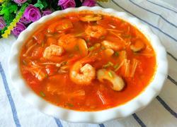茄汁虾仁菌菇汤