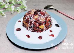 椰浆白果藜麦黑米饭