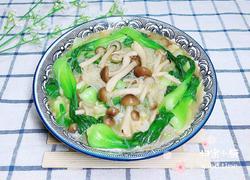 蟹味菇骨汤粉丝煲