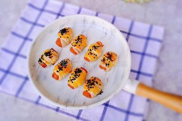 香肠飞饼卷