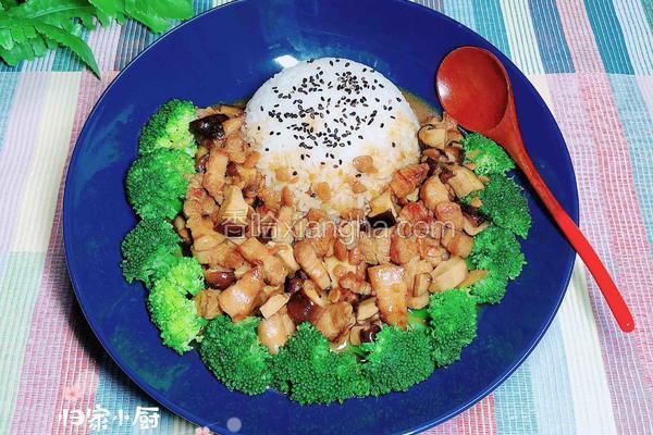酱烧香菇卤肉饭