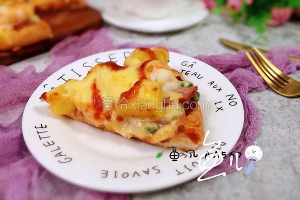 菠萝虾仁披萨