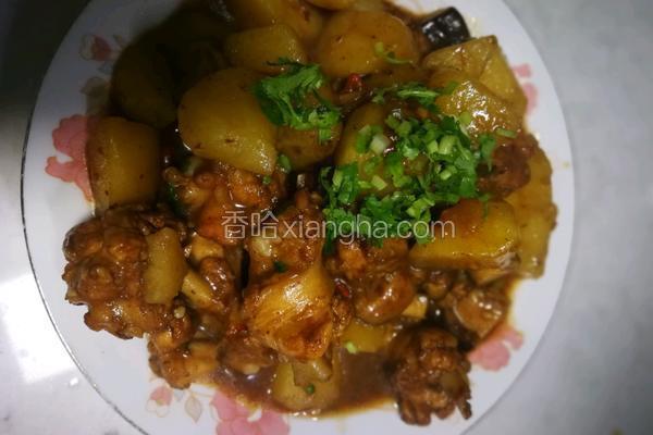 香菇土豆炖鸡翅根(快手菜)
