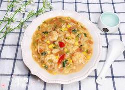 时蔬鲜虾疙瘩汤
