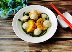 海带玉米鱼丸汤