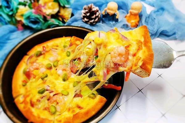 培根虾仁芝士披萨