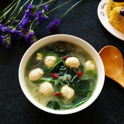菠菜丸子粉丝汤