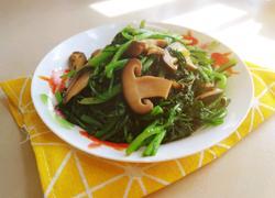 蒜蓉香菇炒茼蒿