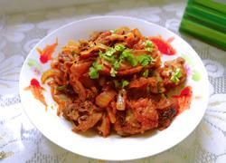 韩式炒鸭肉
