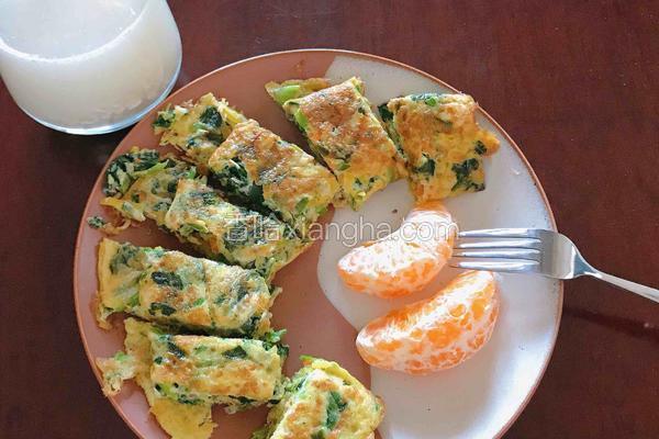 菠菜鸡蛋卷