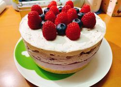 渐变蓝莓冻芝士蛋糕