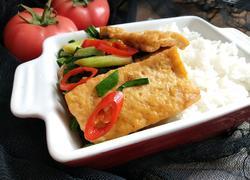 蒜苗炒豆腐便当