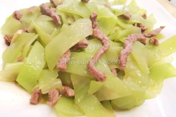 牛肉丝炒莴笋片