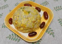 娃娃菜豌豆玉米蛋炒饭