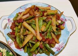 西红柿土豆炖豆角