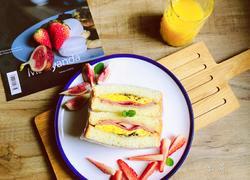 五分钟早餐,培根煎蛋三明治