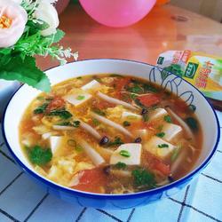西紅柿豆腐菌菇湯的做法[圖]