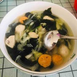 海菜鱼丸汤的做法[图]