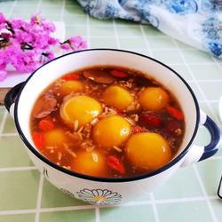 红糖酒酿南瓜汤圆的做法[图]