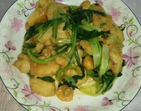 小白菜炒鱼丸[图]