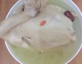 红枣枸杞炖老母鸡[图]