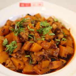 南瓜豆豉蒸鸡丁